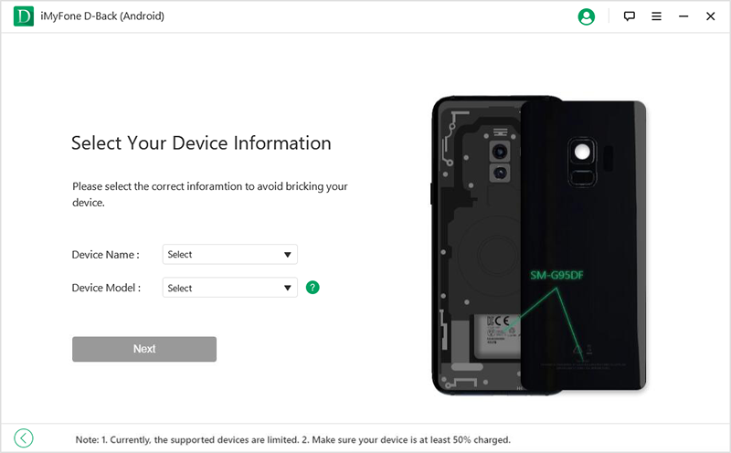 choose device information