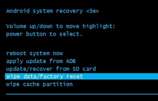factory reset Android phones