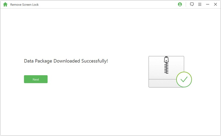 data package downloaded