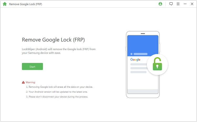 start to unlock google frp lock