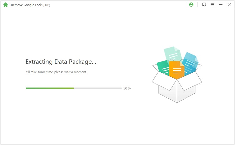 start to extract the data package for your device