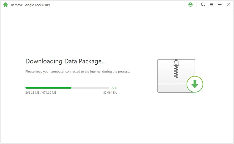 downloading data package for your device