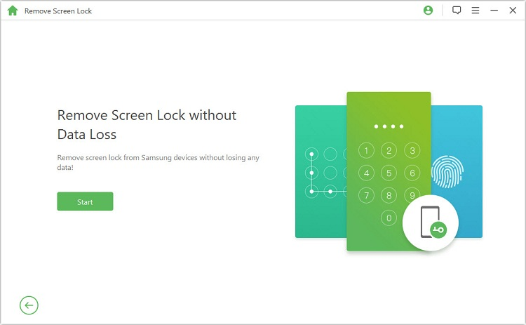 start to unlock android phone password