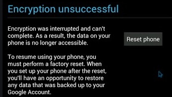 encryption-unsuccessful