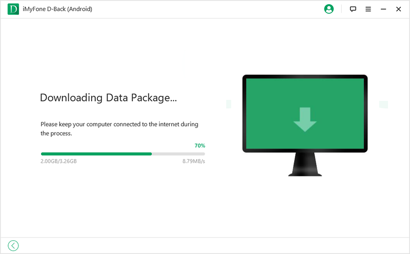 D Back for Android downloading data package