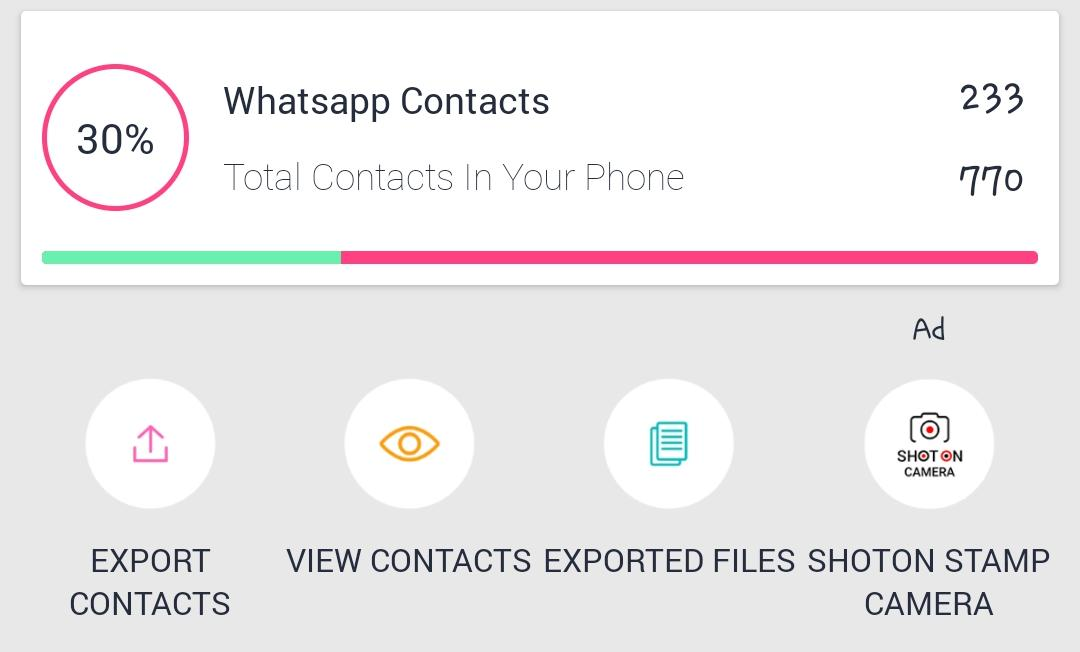 filter out whatsapp contacts