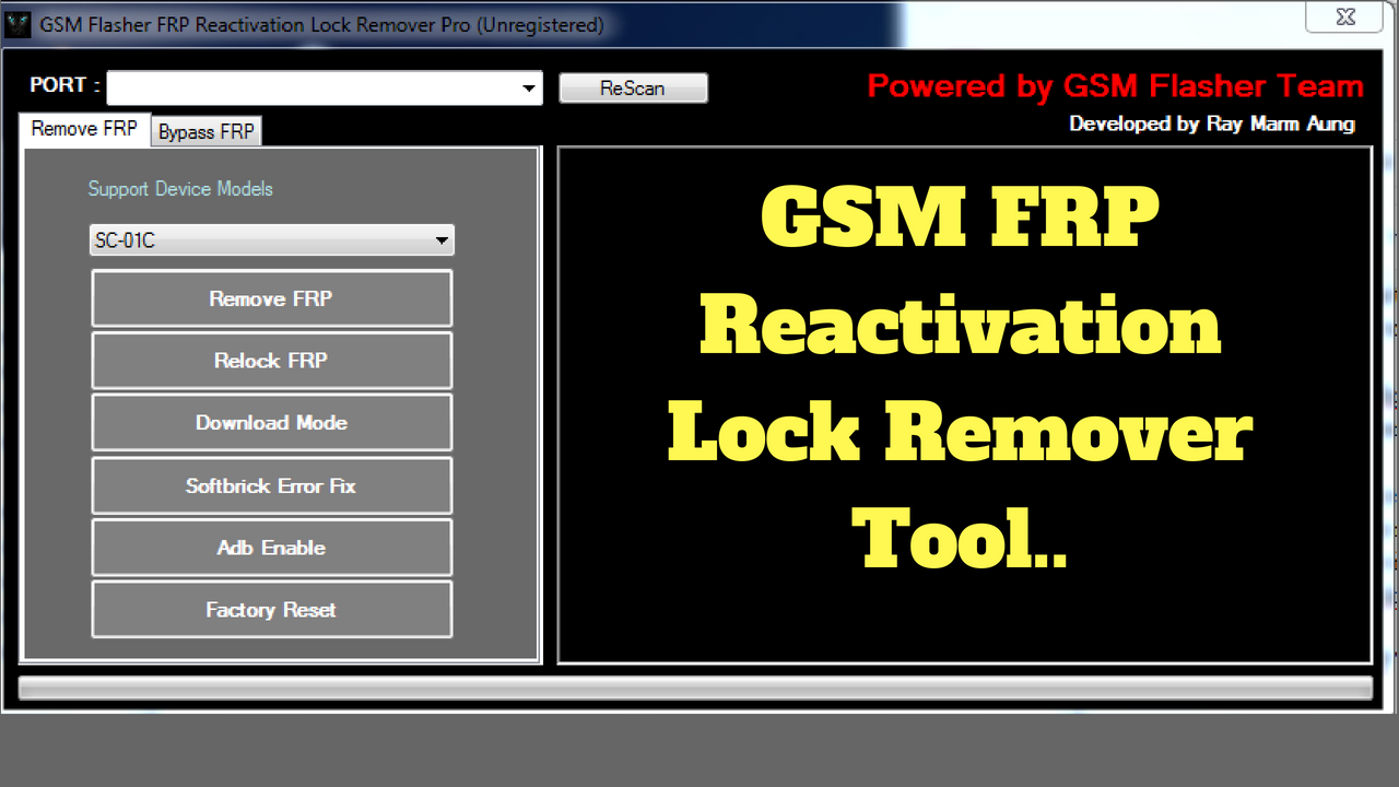 GSM FRP Reactivation Lock Remover Tool