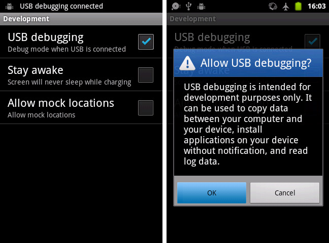 Allow USB debugging on Android phone