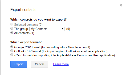 backup andtransfer contacts on android to pc via gmail step 5