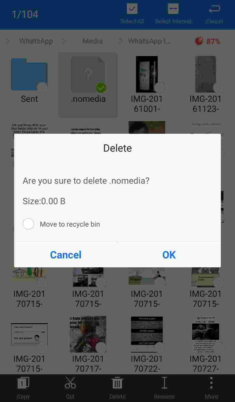 delete .nomedia file on android