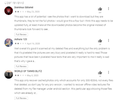 DiskDigger User Reviews