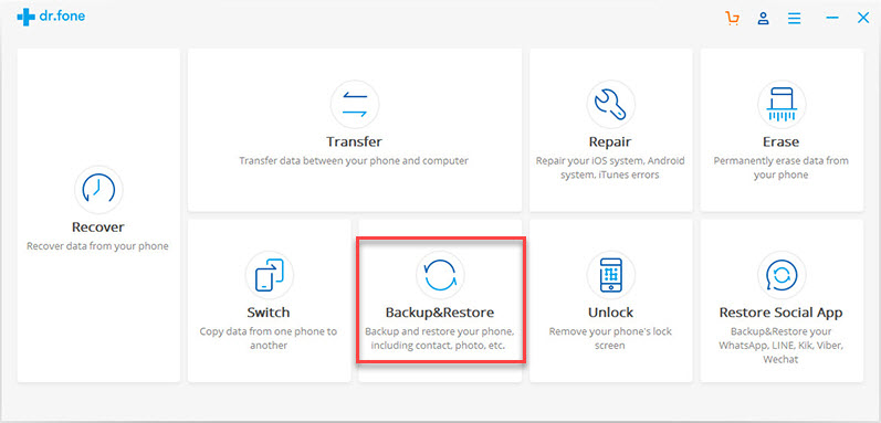backup and restore option