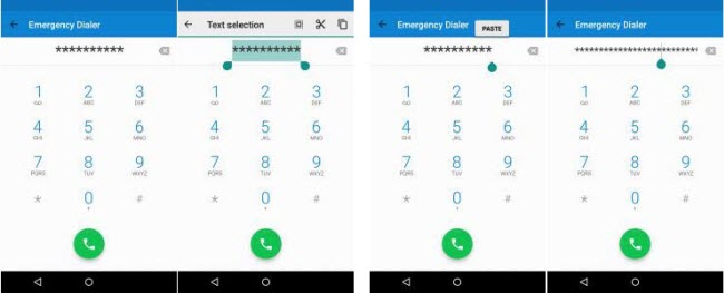 use emergency call to bypass
