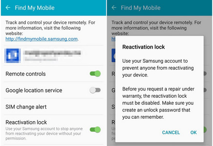Enable Samsung reactivation lock