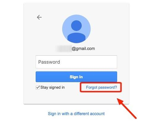 find back google account password