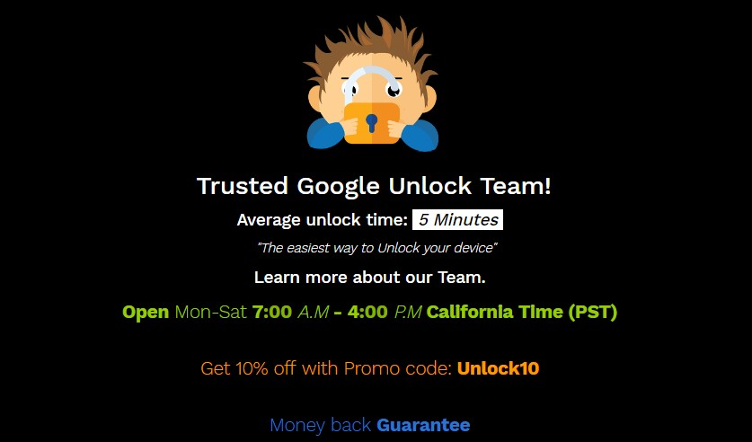 unlockjunky to remove google account