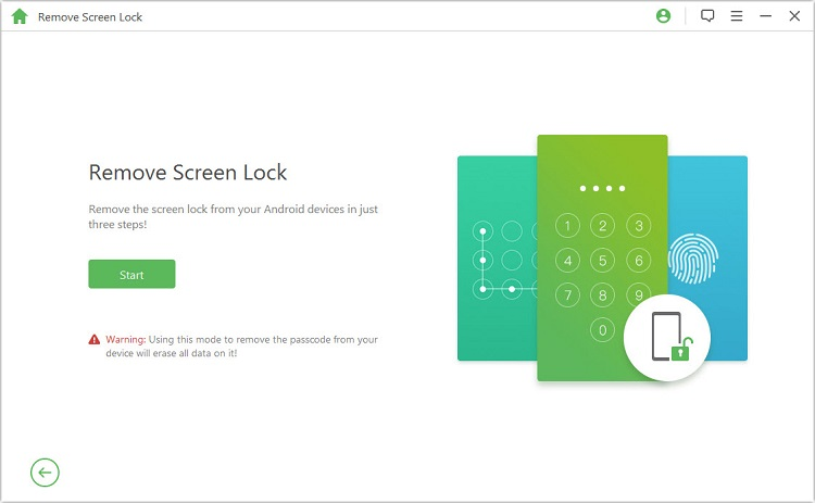 start to unlock android phone from pc