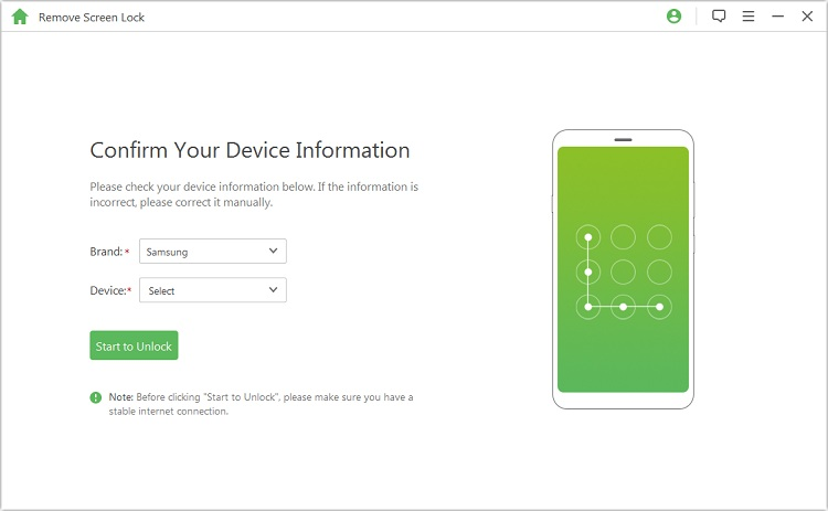 confirm your device information