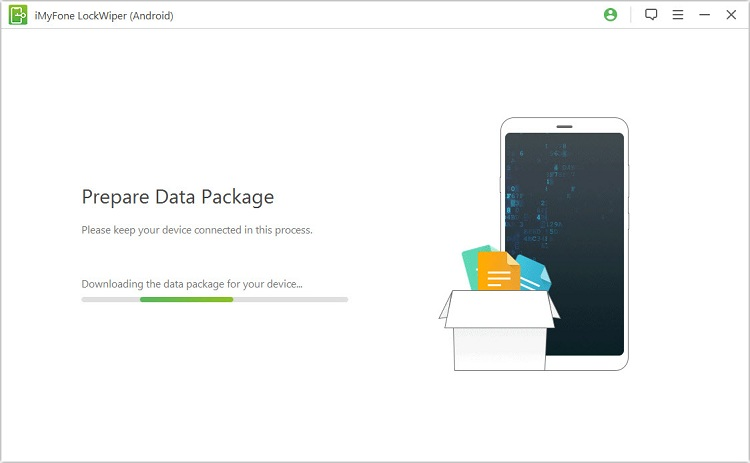 Download data package to the locked Android phone