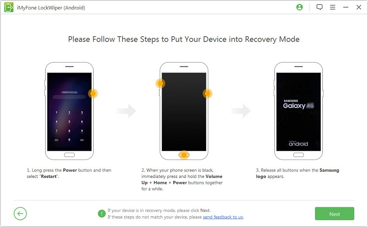 Perform factory reset in recovery mode