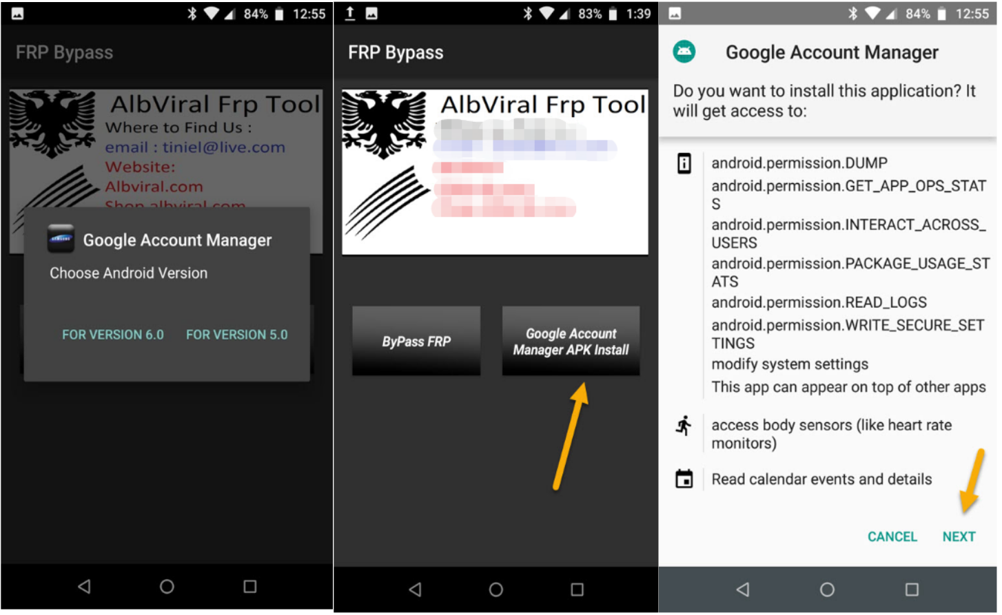 download and install Google account manager APK