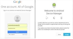 login to android device manager