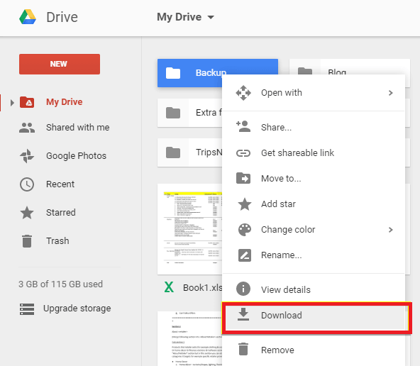 recover audio from google drive