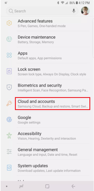 remove google account settings