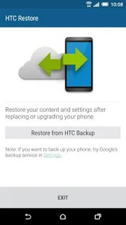 restore from htc backup