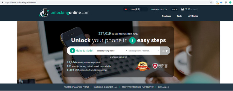 Unlock phone online with unlockingonline website