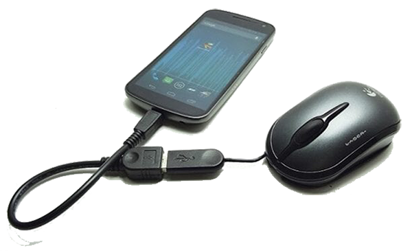use otg cable and mouse to recover android data